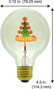 Accent Holiday G25 CHRISTMAS TREE 120V Light