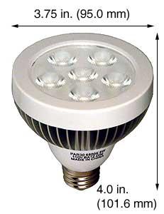 Compact Halogen L-PAR30-8W-CW-DIM LED 6K 40 DEGREE FLOOD