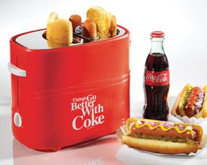 Nostalgia Coca-Cola® Series Pop Up Hot Dog Toaster